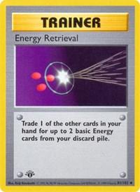 Energy Retrieval, Pokemon, Base Set (Shadowless)