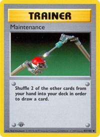 Maintenance, Pokemon, Base Set (Shadowless)