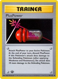 PlusPower, Pokemon, Base Set (Shadowless)