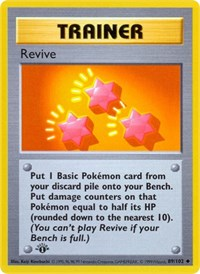 Revive, Pokemon, Base Set (Shadowless)