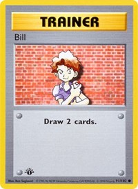 Bill, Pokemon, Base Set (Shadowless)