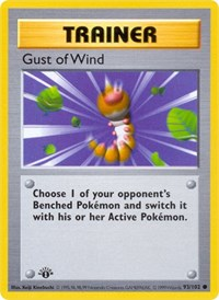 Gust of Wind, Pokemon, Base Set (Shadowless)
