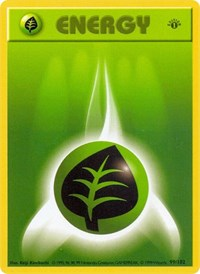 Grass Energy, Pokemon, Base Set (Shadowless)