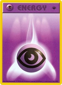 Psychic Energy, Pokemon, Base Set (Shadowless)