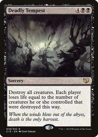 Deadly Tempest, Magic: The Gathering, Commander 2015