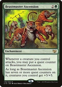 Beastmaster Ascension, Magic: The Gathering, Commander 2015