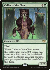 Caller of the Claw, Magic: The Gathering, Commander 2015