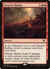 Disaster Radius, Magic: The Gathering, Commander 2015