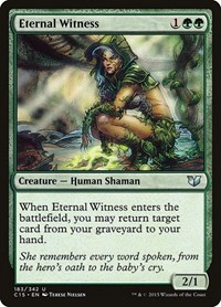 Eternal Witness, Magic: The Gathering, Commander 2015