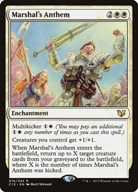 Marshal's Anthem, Magic: The Gathering, Commander 2015