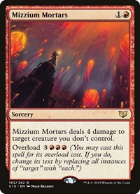 Mizzium Mortars, Magic: The Gathering, Commander 2015