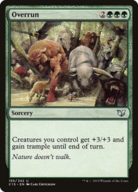 Overrun, Magic: The Gathering, Commander 2015