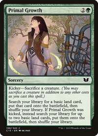 Primal Growth, Magic: The Gathering, Commander 2015