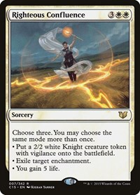 Righteous Confluence, Magic, Commander 2015
