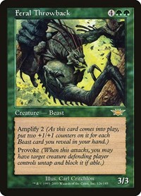 Feral Throwback, Magic: The Gathering, Legions