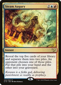 Steam Augury, Magic: The Gathering, Commander 2015