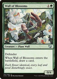 Wall of Blossoms, Magic: The Gathering, Commander 2015