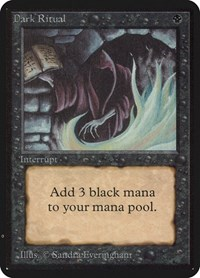 Dark Ritual, Magic: The Gathering, Alpha Edition