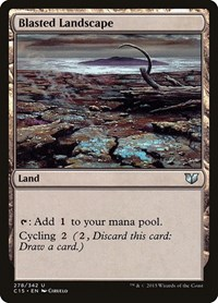 Blasted Landscape, Magic: The Gathering, Commander 2015