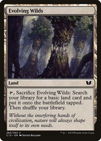 Evolving Wilds, Magic: The Gathering, Commander 2015
