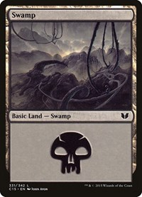 Swamp (331), Magic: The Gathering, Commander 2015