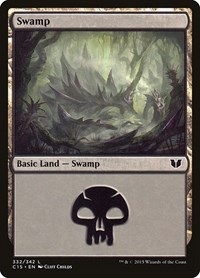 Swamp (332), Magic: The Gathering, Commander 2015