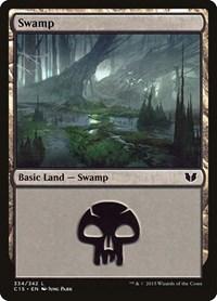 Swamp (334), Magic: The Gathering, Commander 2015