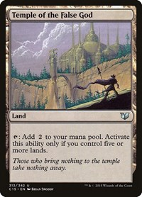 Temple of the False God, Magic: The Gathering, Commander 2015