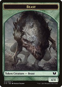 Beast // Snake (Green) Double-Sided Token, Magic: The Gathering, Commander 2015