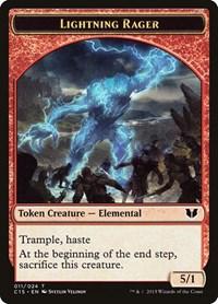 Lightning Rager // Lightning Rager Double-Sided Token, Magic: The Gathering, Commander 2015