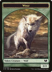 Wolf // Zombie Double-Sided Token, Magic: The Gathering, Commander 2015