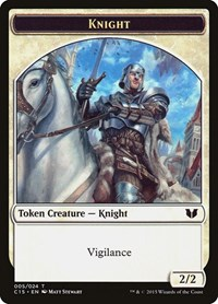 Knight (Vigilance) // Spirit (Enchantment) Double-Sided Token, Magic: The Gathering, Commander 2015