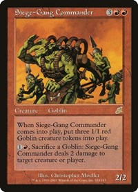 Siege-Gang Commander, Magic: The Gathering, Scourge