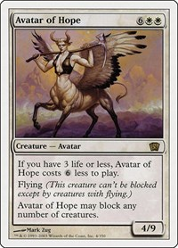 Avatar of Hope, Magic: The Gathering, 8th Edition