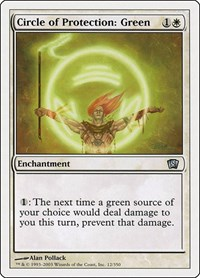 Circle of Protection: Green, Magic: The Gathering, 8th Edition