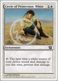 Circle of Protection: White, Magic: The Gathering, 8th Edition