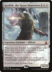 Kozilek, the Great Distortion, Magic: The Gathering, Oath of the Gatewatch