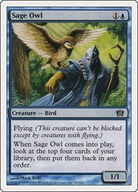 Sage Owl, Magic: The Gathering, 8th Edition