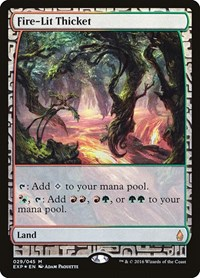 Fire-Lit Thicket, Magic: The Gathering, Zendikar Expeditions