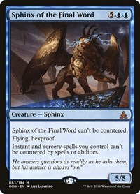 Sphinx of the Final Word, Magic: The Gathering, Oath of the Gatewatch