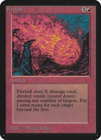 Fireball, Magic: The Gathering, Alpha Edition