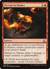 Devour in Flames, Magic, Oath of the Gatewatch