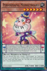 Performapal Monkeyboard, YuGiOh, Breakers of Shadow