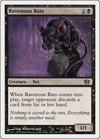 Ravenous Rats, Magic: The Gathering, 8th Edition