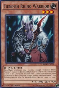 Fiendish Rhino Warrior, YuGiOh, Breakers of Shadow