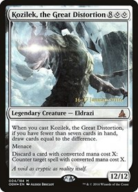 Kozilek, the Great Distortion, Magic: The Gathering, Prerelease Cards