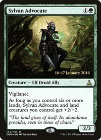 Sylvan Advocate, Magic: The Gathering, Prerelease Cards