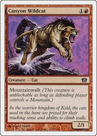 Canyon Wildcat, Magic: The Gathering, 8th Edition