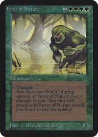 Force of Nature, Magic: The Gathering, Alpha Edition