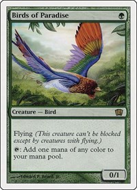 Birds of Paradise, Magic: The Gathering, 8th Edition